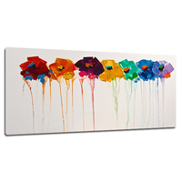 Newest Handmade Seven Flower Picture Paintings For Kitchen Wall Decoration Wall Arts