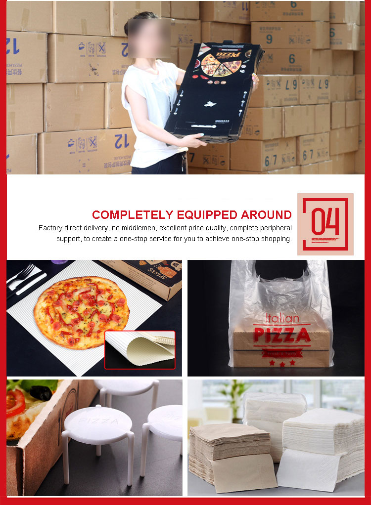 Özel tasarım oluklu karton pizza kutusu
