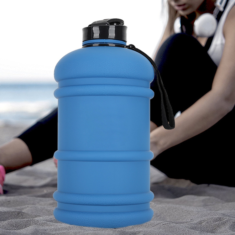 Frosted wide mouth large capacity portable sports water bottle gym water jug