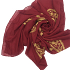 High Quality Elegance Polyester Voile Embroidered Scarf