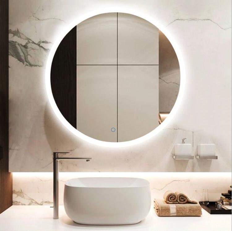 Beauty Round Shape led backlit bathroom mirror IP44 rating frameless mirror with led lights