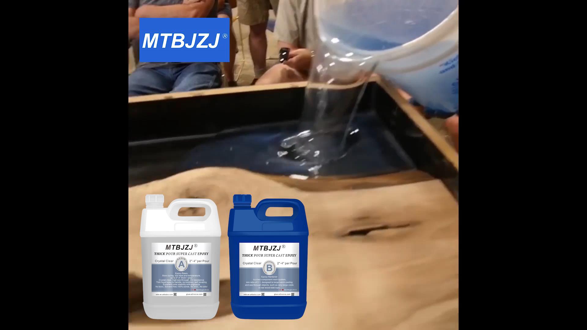 MTBJZJ मोटी डालो सुपर कास्टिंग Epoxy राल के लिए लकड़ी का काम 15kgs सेट