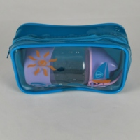 Transparent Cosmetic Packaging PVC bag with zipper for cosmetic