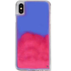 factory custom luminous cover neon sand liquid mobile phone case for iphone xs max