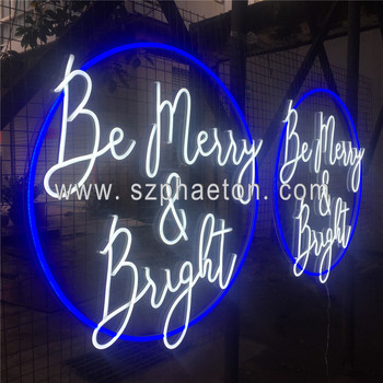 Factory custom hanging colorful neon sign for store decoration, color changing custom neon sign