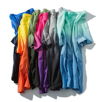 Low MOQ OEM Mens Street Wear Clothing Multi Colored Dip Dye T Shirt ,Wholesale Men 100%Cotton Tie Dip T Shirts In Bulk