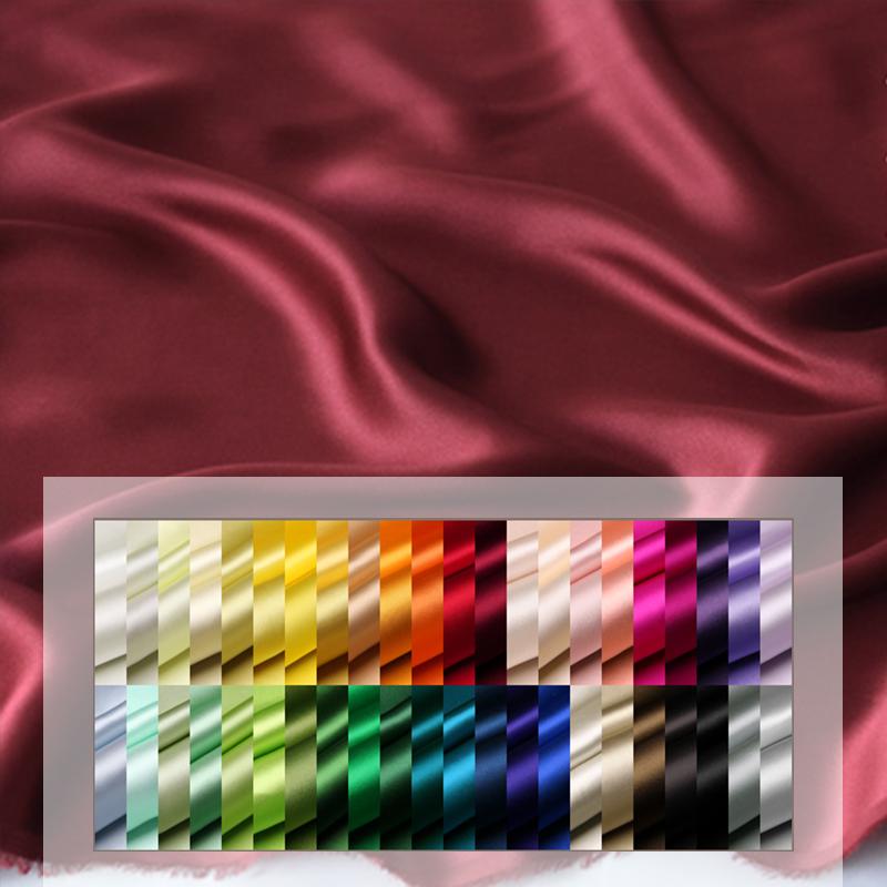 Роскошные комплекты постельного белья, материал для окрашивания, 100% чистая блестящая шелковая атласная крепированная ткань