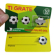 High quality all eco-friendly win magic lucky football gift paper maker variable password off print making custom scratch card