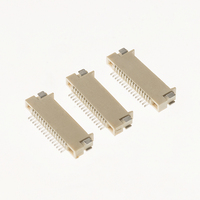 0.5mm pitch FPC connector ZIF, wire-to-board connector