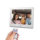 Smart 8 Inch LCD High Resolution Multifunctional Desktop Digital Photo Frame MP3 MP4 Calendar Function With Remote Control