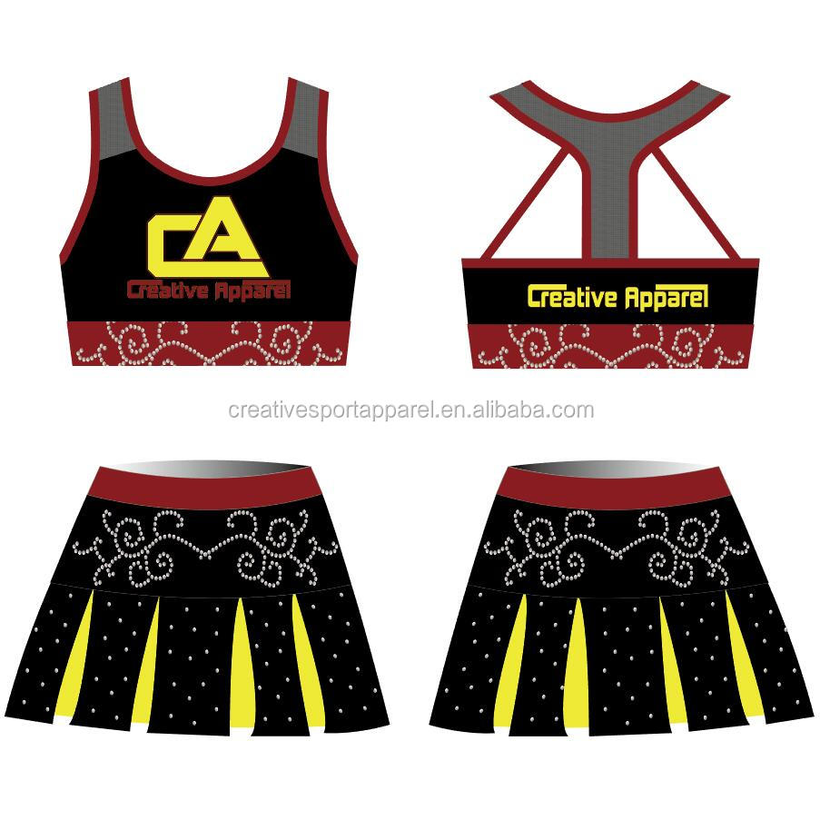 New style all star washable kids china dance and  cheer leading uniform