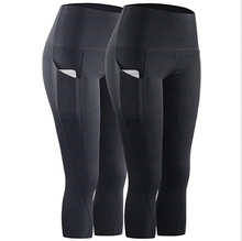 Amazon Hot New Fitness Pantaloni di Capris delle Donne <span class=keywords><strong>Capri</strong></span> Pantaloni di Sport A Vita Alta Pianura Colore Ritagliata Leggings