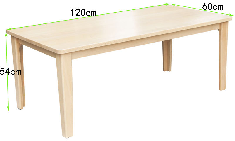 Wooden school furniture children's rectangular table kindergarten beech study table