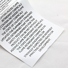 Customized Wash Instructions Clothing Care Labels black white Print