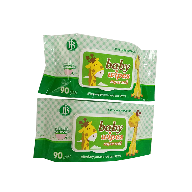Organic baby wipes bag high quality wet wipes pouch