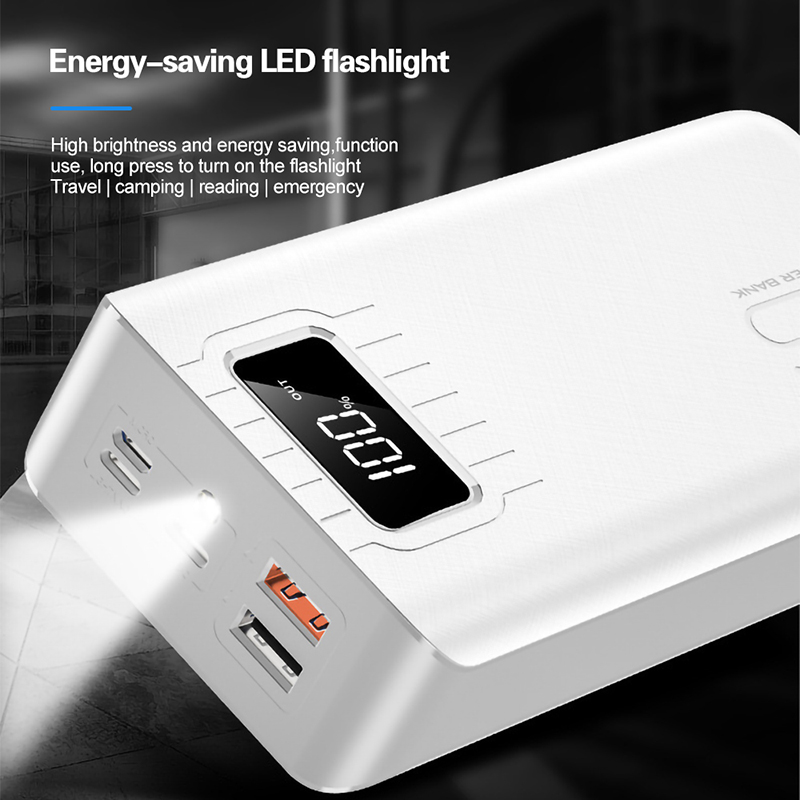 30000mAh Power Bank LED Digital Display Dual USB Fast Charging Power Bank For Samsung for  iPhone 11 Pro External Battery