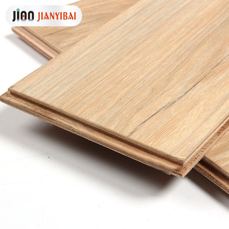 <strong>E0</strong> 15mm laminated solid keruing wood floor indoor parquet walnut veins multi-layer hardwood laminate flooring