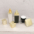 50ml Square Cosmetic Acrylic Golden Plastic Cream Lotion Bottles And Airless Jars