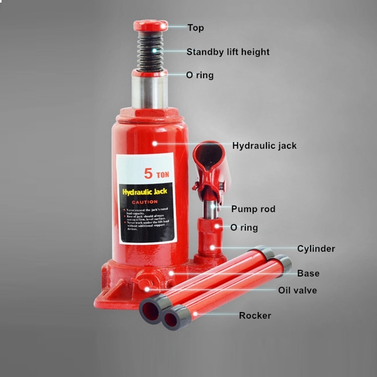 Atlifix 6 Ton Durable Hydraulic Portable Red Car ...