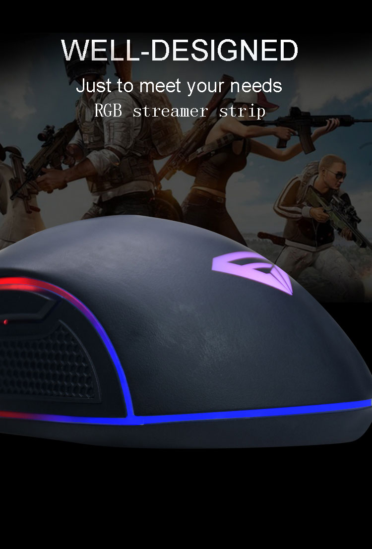 Custom Reliable 7D Gaming Mouse Ergonomic RGB Light PC Wired Mouse