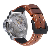 China OEM Supplier Custom wholesale men Italian vintage genuine Leather Watch Band strap