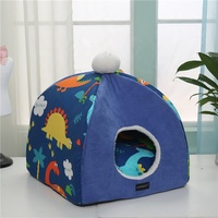 Foldable Pets Cats Dogs House Kennel Bed