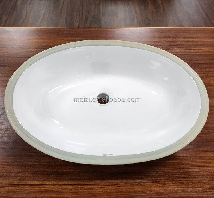 Space Saving oval porcelain undermount sink