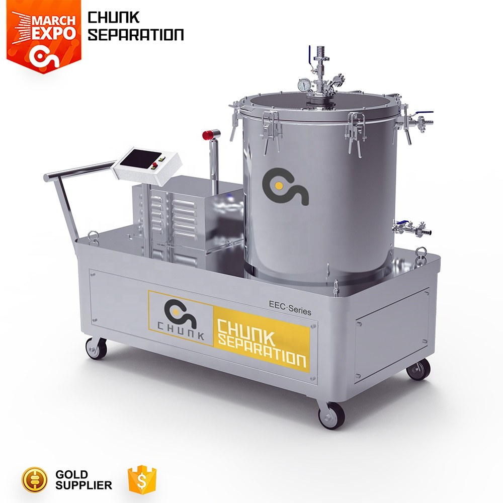 Batch Type Low Temperature Ethanol Soak and Spin Centrifuge for Hemp Oil Extraction