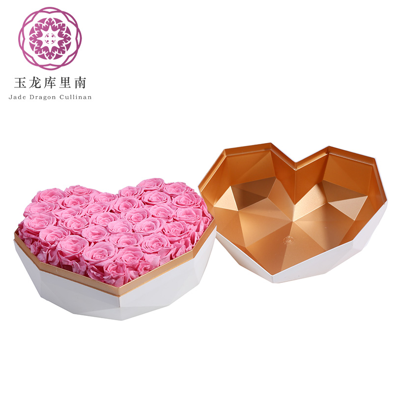 Yunnan Valentine Wedding Gift Luxury Heart-shaped Everlasting <strong>Flowers</strong> Preserved Roses in Box