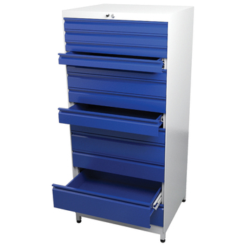 Workshop Metal Storage Drawers Cabinet Tool Box Storage Tool Cabinet with Lock Mechanism Telescopic Rails Heavy