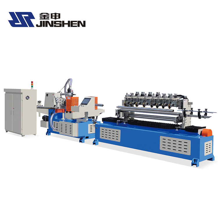 Factory direct sale multi-cutter spiral 2 heads spiral paper core tube making machine JS-PTE2-120M