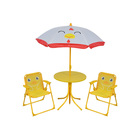 High Quality Comfortable Kids Gardening Table And Chair Set With Umbrella