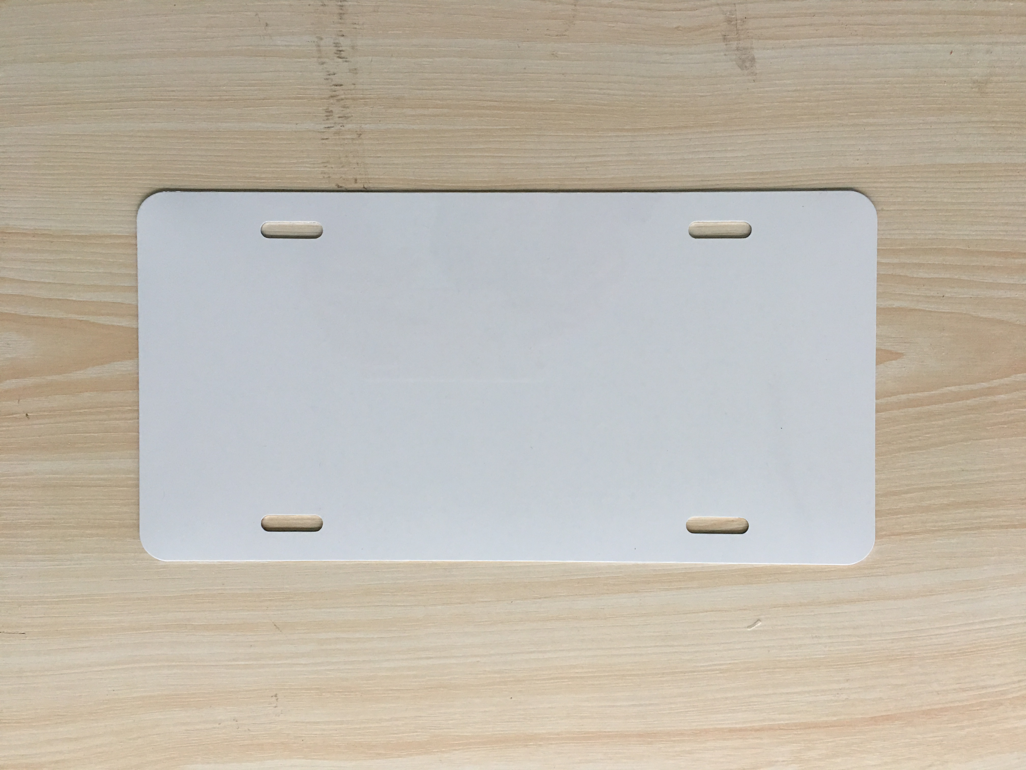 High Quality Aluminum White Coated Sublimation Blank License Plate Blank Number Plate