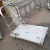 Heavy duty stainless steel platform trolley for food areas