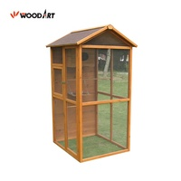 Large Wooden Bird Cage Bird Feeder House