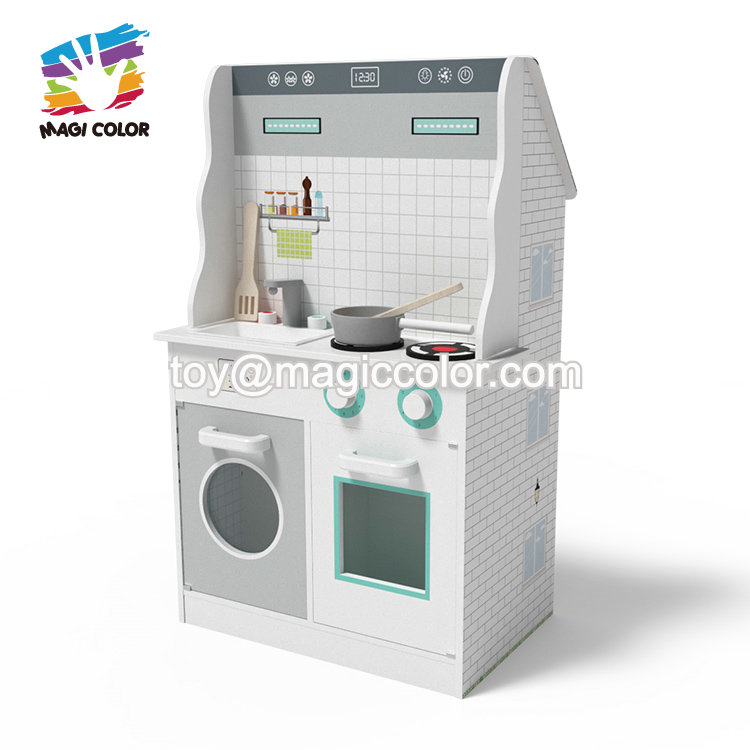 New fashion combination 2 in 1 wooden dollhouse kitchen set for children W06A371D