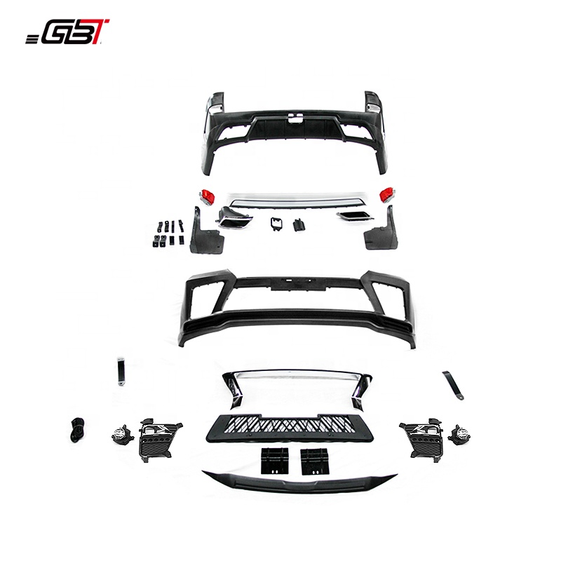 GBT body kit include front&rear bumper assembly grille and exhaust pipe year 2016-on for Toyota Land Cruiser 200 E Model