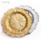 New Product Wholesale Tableware Glass Gold Sliver Dinner Plates Cheap Decorative Charger Plate For Wedding