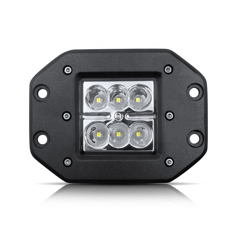 18w led work light square embedded installation 3inch 6000k truck USV offroad driving light