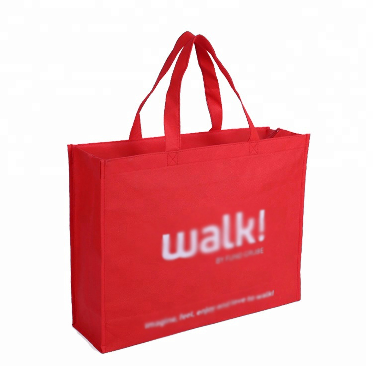 High Quality Tote Non Woven Bag with Zipper Promotional Shopping Bag Reusable Bag
