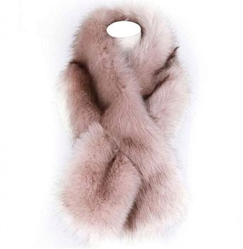 New Cheap wholesale factory supply women fur scarf faux fox fur collar scarf