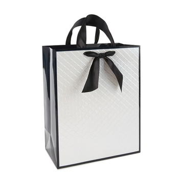 Luxury logo printing hair extension sink care products gift paper bag