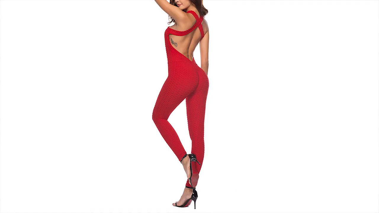 Jacquard Fitness Women Sport Suit Sexy Sleeveless Tracksuit Backless Gym Leggings  Fitness Jumpsuit