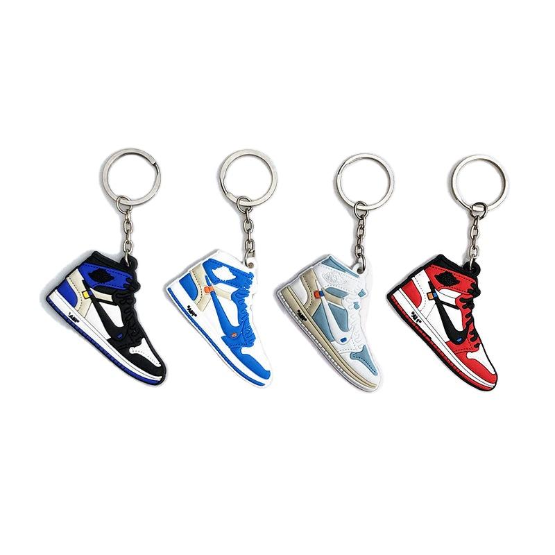 Оптовая продажа оригинальный завод 3d мини-обуви Jordan брелки Бесплатная работа дизайн экологичный Спорт 3D ПВХ обувь брелок