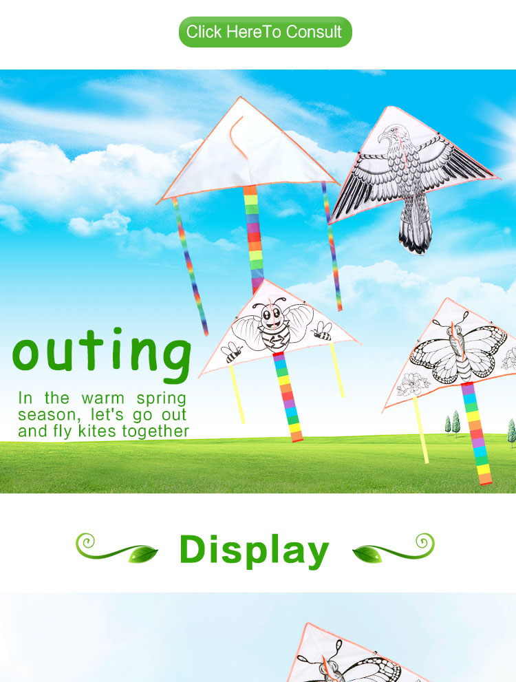 High quality Weifang outdoor sports new type easy flying  mini cheap  blank diy chinese kite for kids