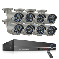 Outdoor H.265 8CH POE NVR System With 8PCS Camera Two Way Audio Camera Kit CCTV Camera Security System