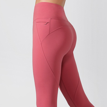 Fitness Sport Wears Gym High Waisted Leggin Workout Booty Scrunch Leggings With Pocket