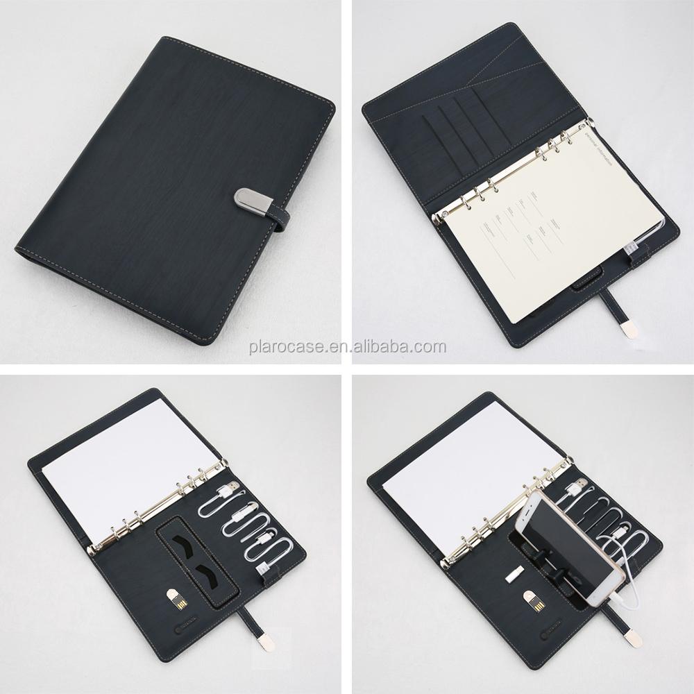 ワイヤレス充電器メモ帳アジェンダノートブック日記電源銀行 USB