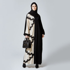 Moroccan Kaftan Women Elastic Dress Casual Muslim Ladies Abaya Kimono Dresses With Belt