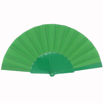 Custom printed polyester fabric plastic promotion hand lace fan